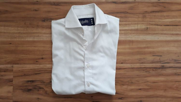 Woodies Clothing White Performance Dress Shirt