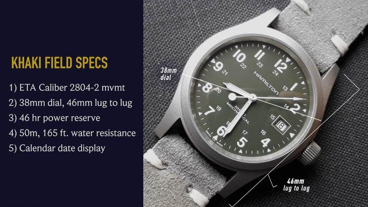 Hamilton Khaki Field Watch Specs