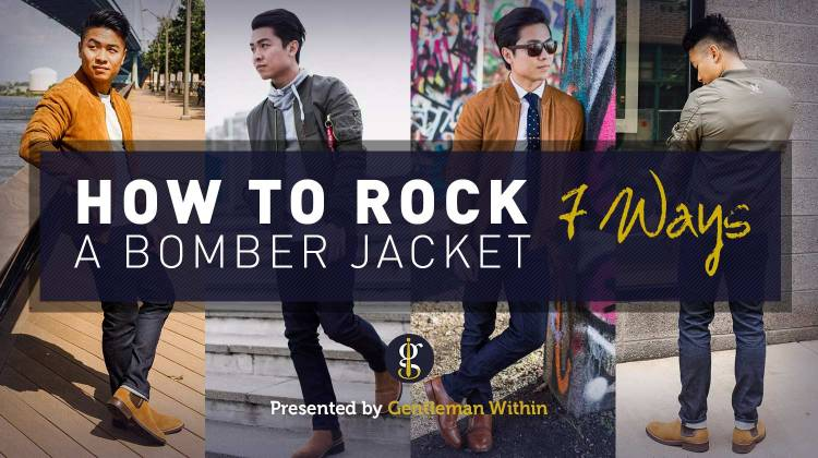 How To Wear A Bomber Jacket Outfits | GENTLEMAN WITHIN