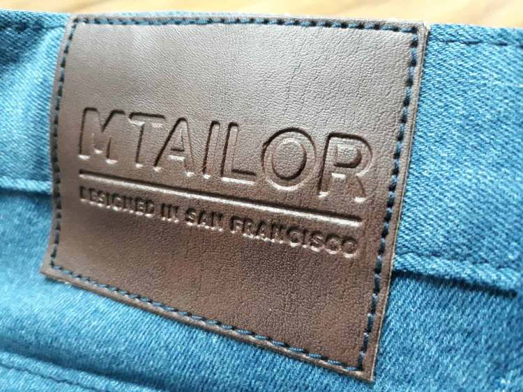 MTailor Jeans Faux Leather Label