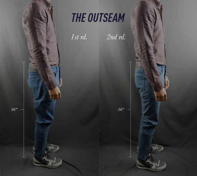 MTailor Jeans Outseam Before and After