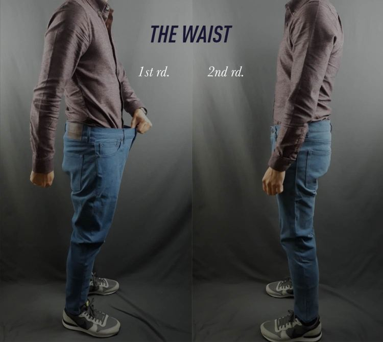 MTailor Jeans Waist Before and After