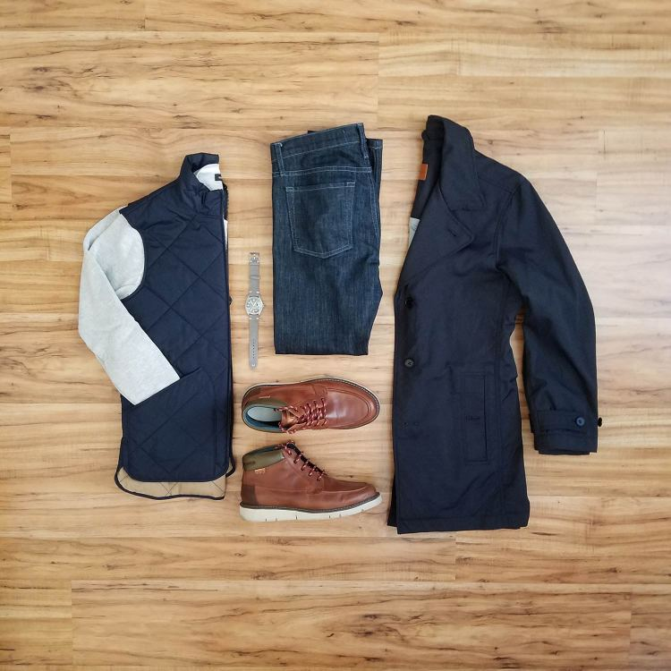 How To Wear A Casual Vest Flatlay 1