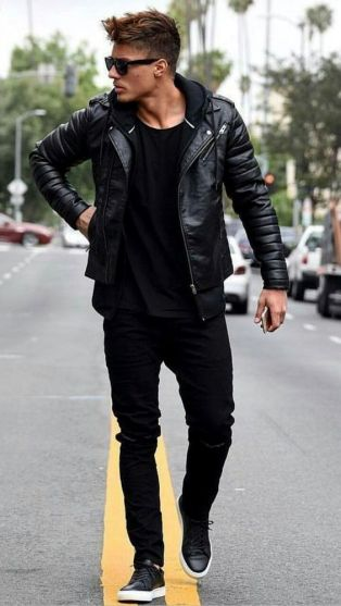 Leather Jacket Outfit Inspo 6