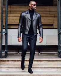 Leather Jacket Outfit Inspo 8