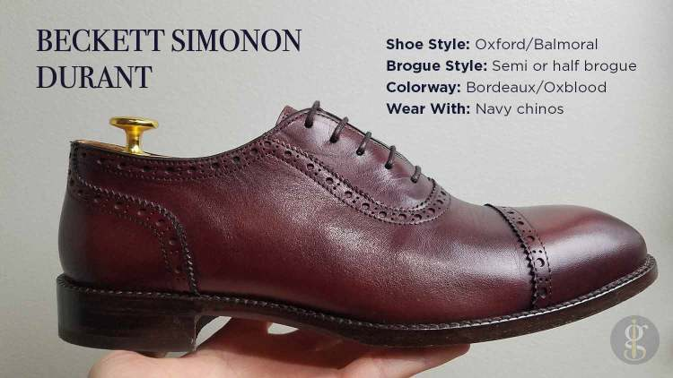Beckett Simonon Durant in Bordeaux Style & Design