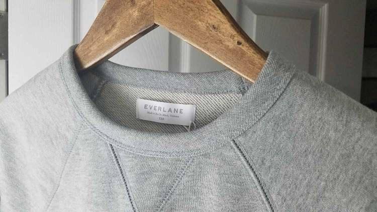 Everlane Classic French Terry Crew Grey Sweatshirt
