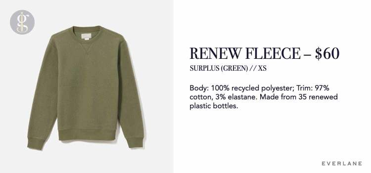 Everlane ReNew Fleece Sweatshirt Details