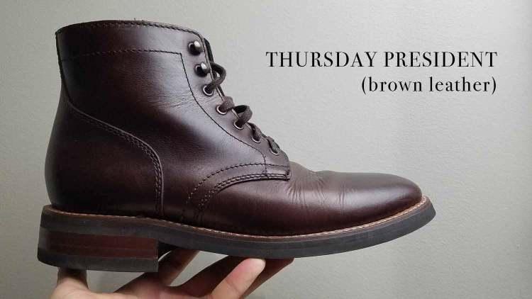 Thursday President Boot