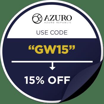 Azuro Republic Promo Code Sticker