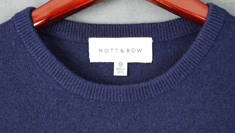 Bergen Navy Cashmere Sweater Made in China