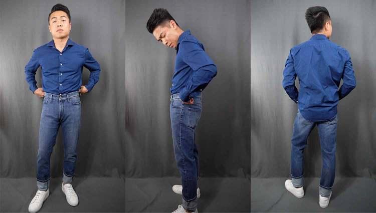 Wythe Slim Semi Spread Collar Button Up Shirt
