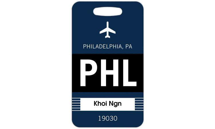 Bold Destination PHL Luggage Tag