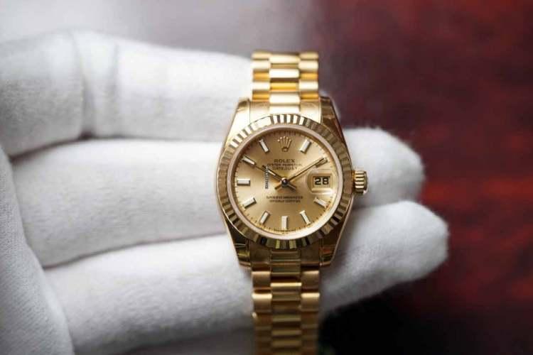 Gold Rolex Datejust Watch