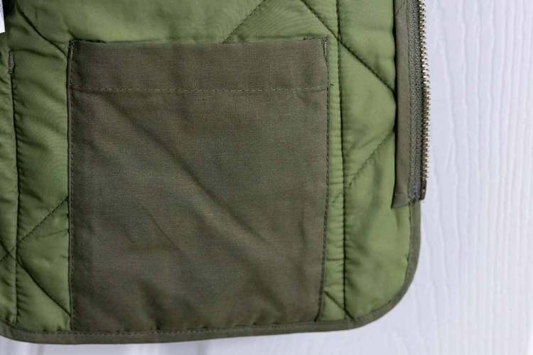 Green Walker Vest Inside Pocket