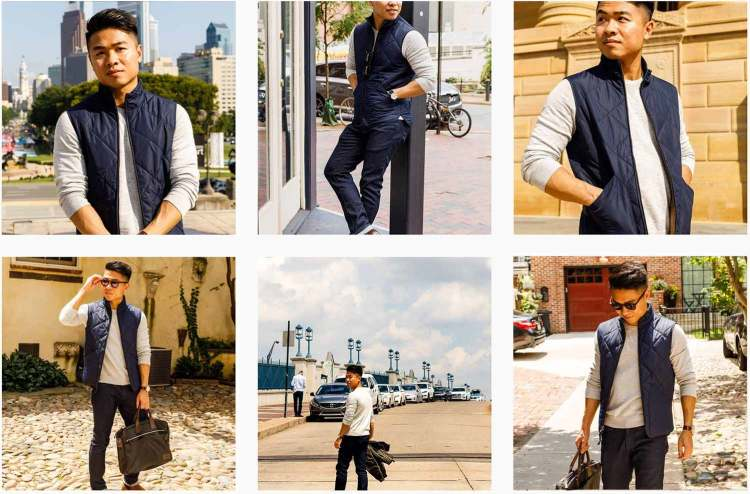 J.Crew Factory Walker Vest Collage 2