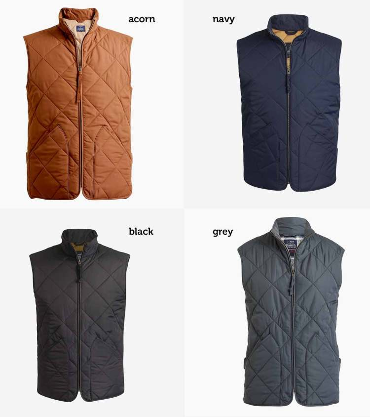 JCrew Factory Walker Vest Colorways