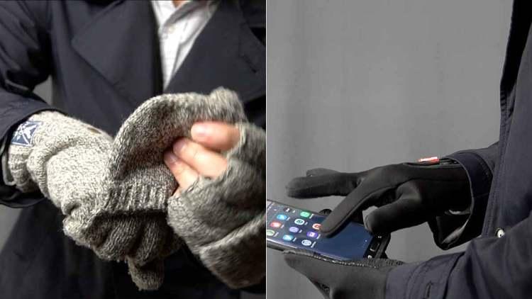 fingerless mittens thermal gloves