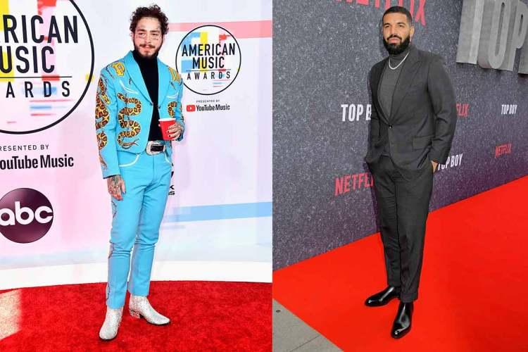 post malone drake turtleneck suit jacket trend