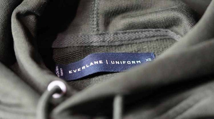 Everlane French Terry Hoodie Tag Detail