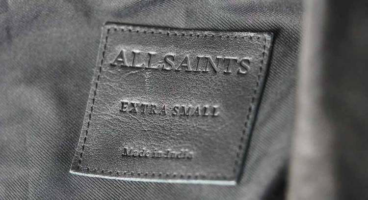 allsaints made in india tag