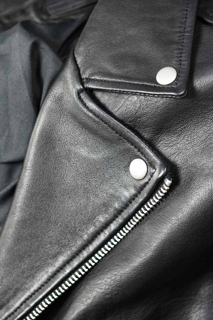 allsaints milo biker jacket lapel