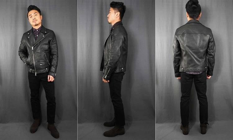 allsaints milo leather biker jacket fit