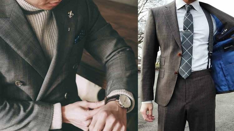 gentleman suit and braces