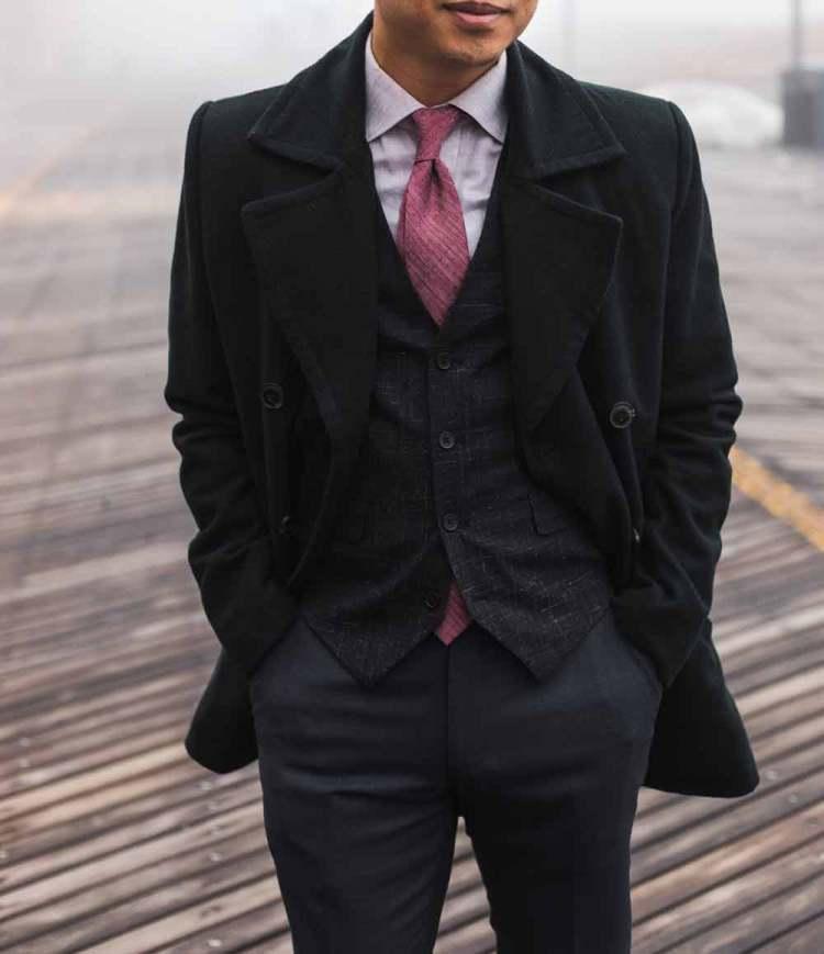peacoat waistcoat tie