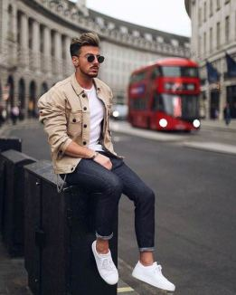 white sneakers with jeans outfit 1