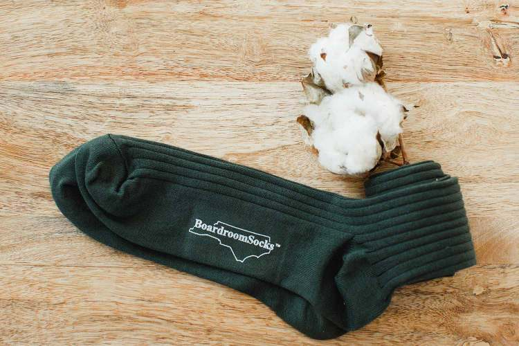 olive pima cotton socks