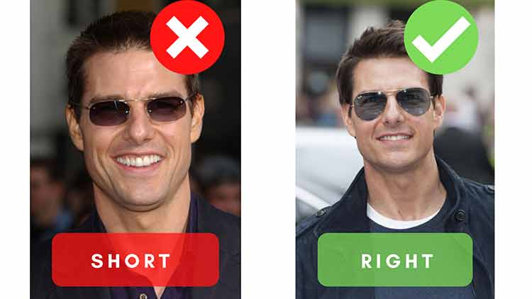 face length sunglasses examples