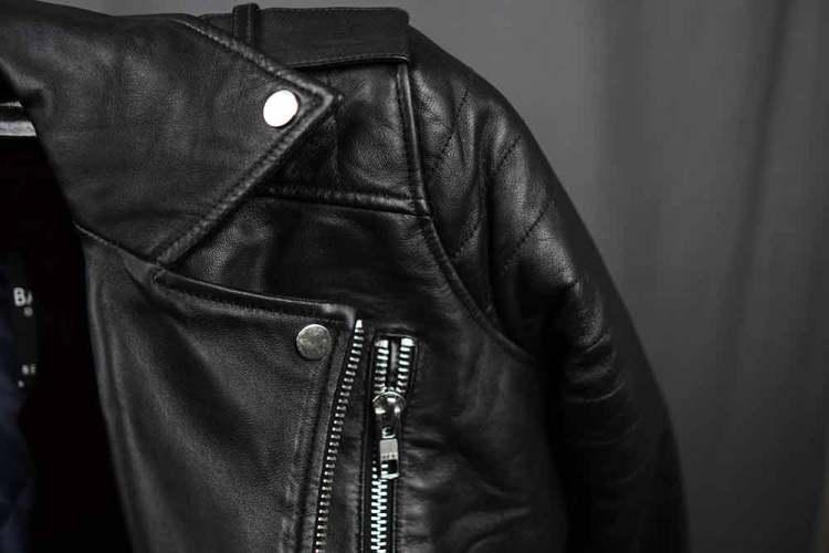 ASOS Barneys Originals Leather Jacket Collar Detail