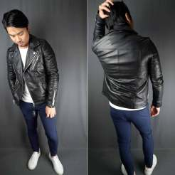 ASOS Barneys Originals Quilted Leather Jacket Styling