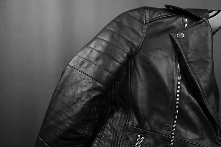 Barneys Originals Quilted Leather Jacket Sleeve