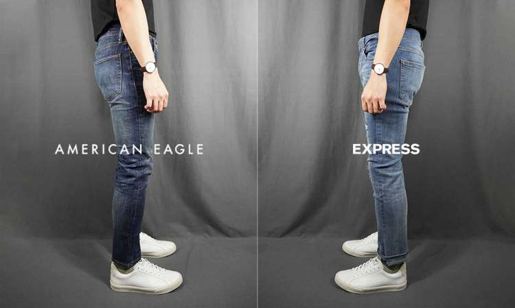 ae jeans vs express jeans battle