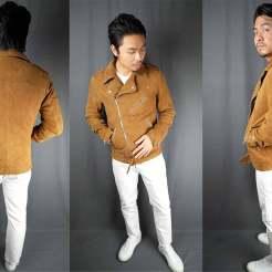 tan suede biker jacket how it fits