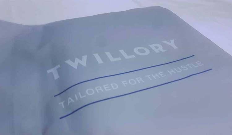 twillory package zip lock bag