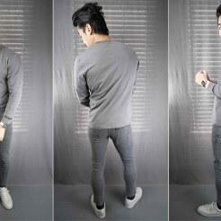 bruce slim tapered fit jean gray slub
