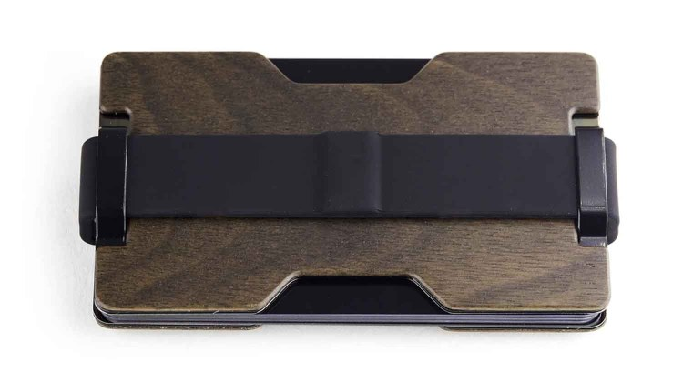 radix one slim wood wallet