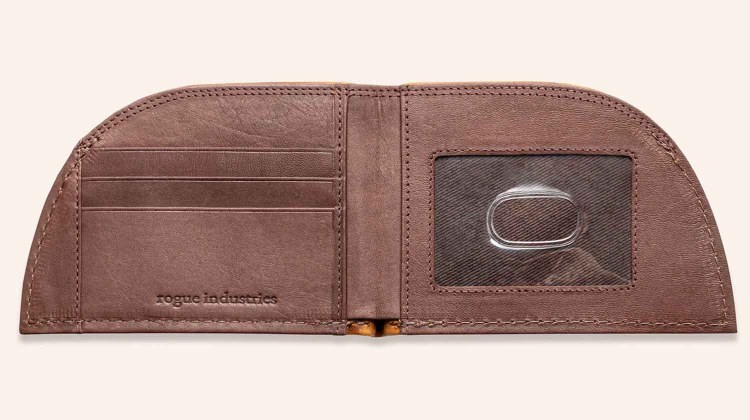 rogue industries american bison leather wallet