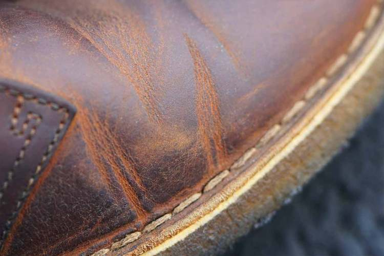 beeswax leather boot aging through the years