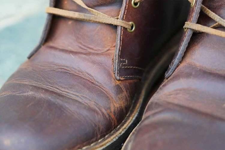 clarks desert boot creasing