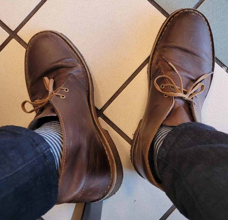 clarks desert boots 7 years going strong