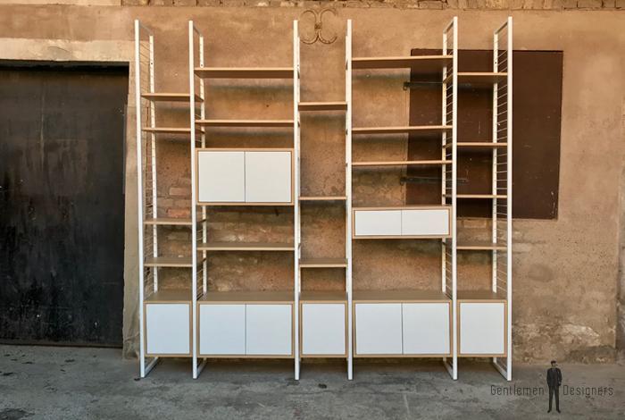 etagere murale modulable composee d etageres et de caissons