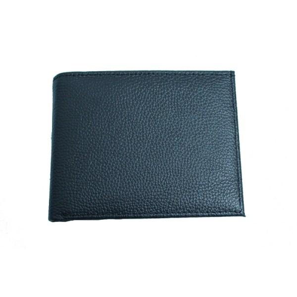 portofel din piele naturala model slim l22 black