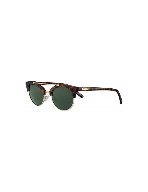 zippo green mirror sunglasses with brow bar min