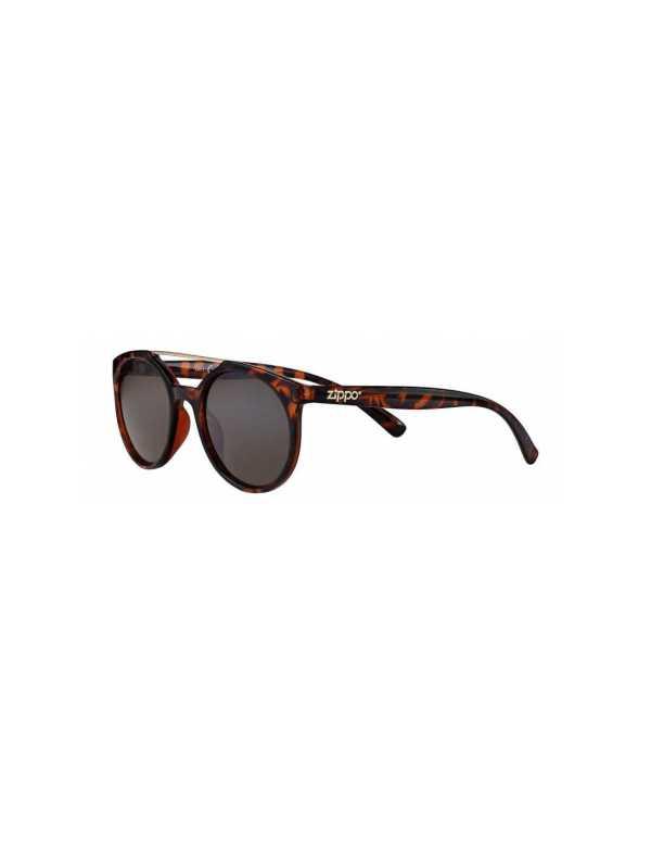 zippo smoke circular sunglasses with brow bar