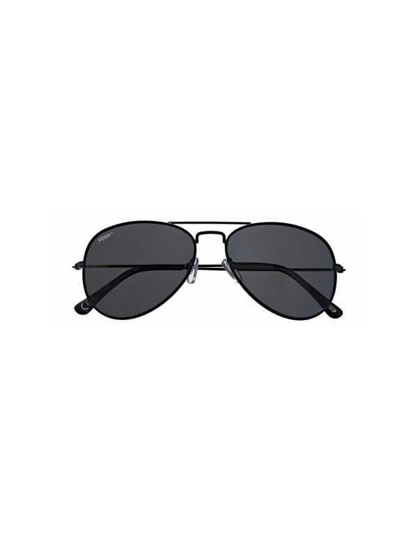 zippo smoke polarized black pilot sunglasses 1 min