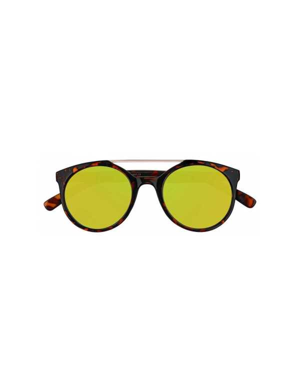 zippo yellow mirror circular sunglasses with brow bar 1 min